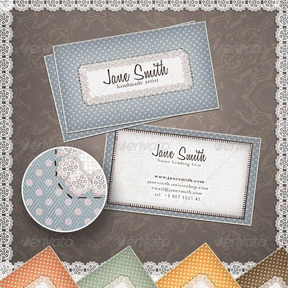 Handmade Arts & Crafts Business Card