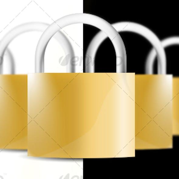 Glossy Lock icon