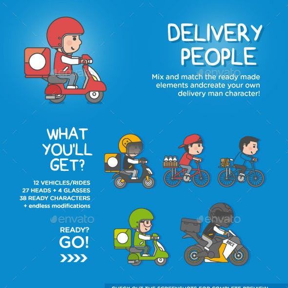 Delivery People Set