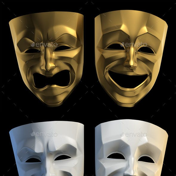 Tragicomic Theater Masks