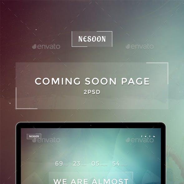 NESOON - Coming Soon Template