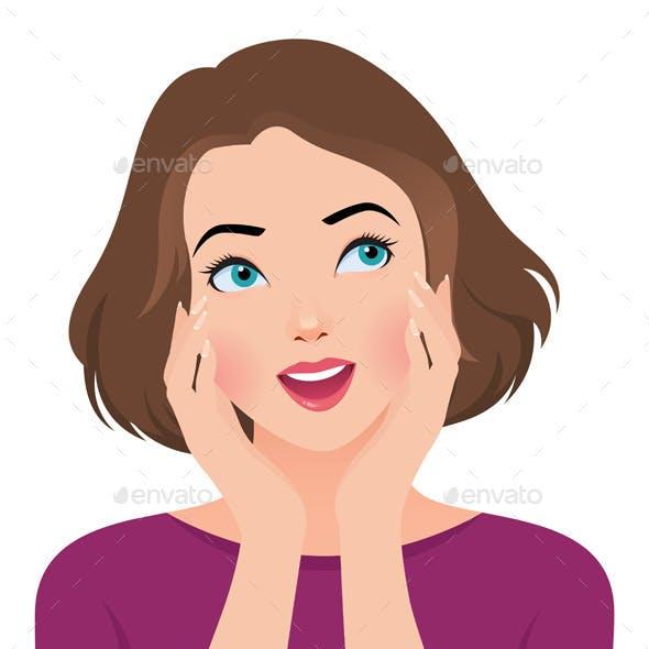 Wondering Portrait of Girl Face