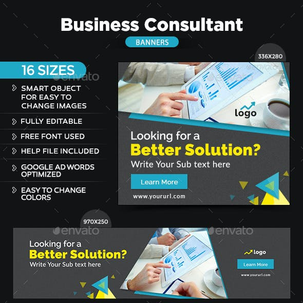 Business Consultant Banners