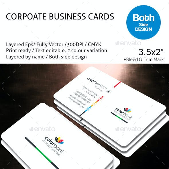 COLOR BANK Corporate Business Card