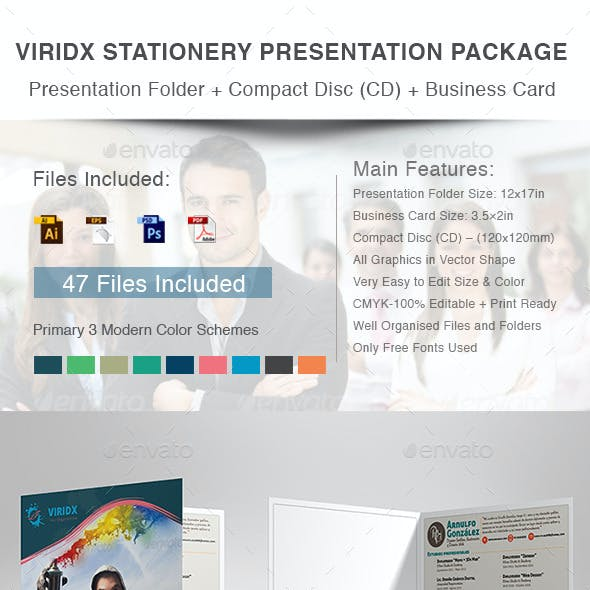 Viridx Stationery Presentation Package