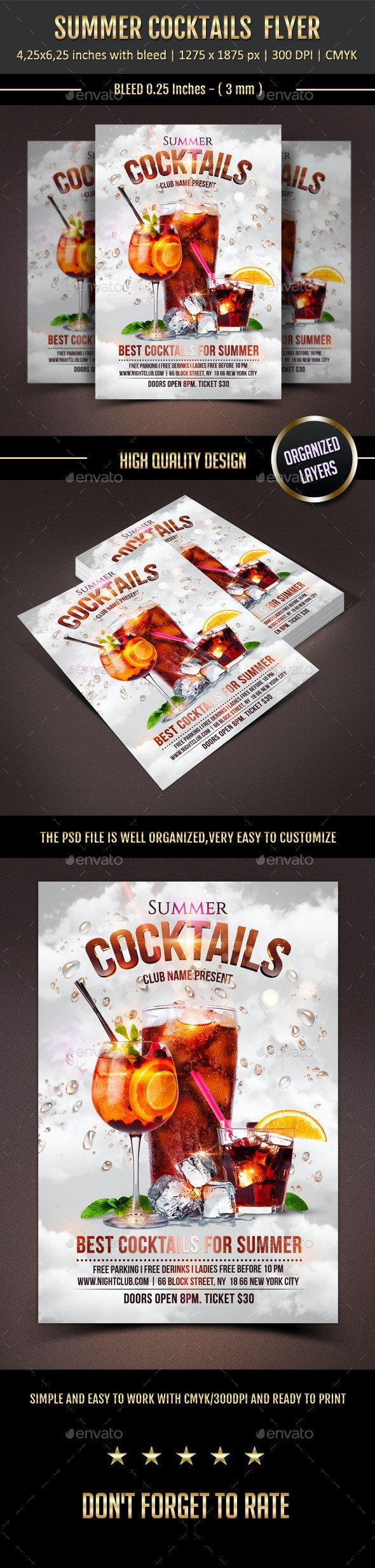 Summer Cocktails - Clubs & Parties Events