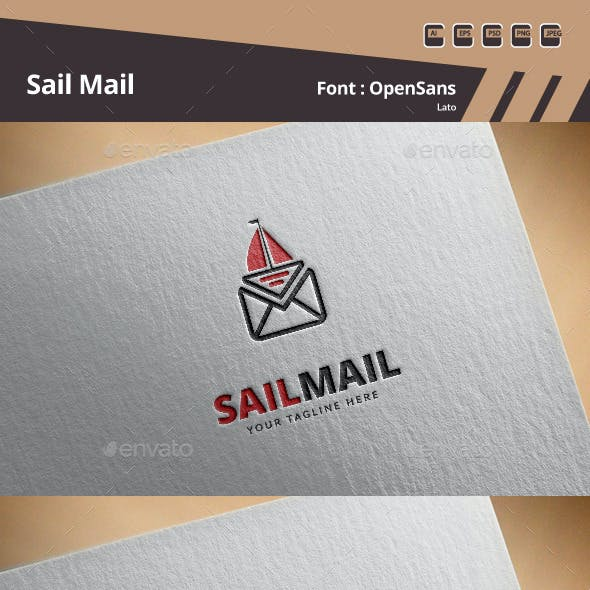 Sail Mail Logo Template