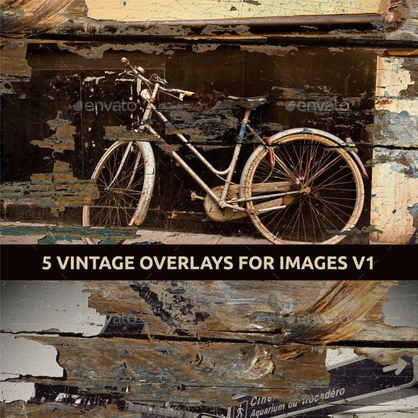 5 Vintage Overlays for Images V.1