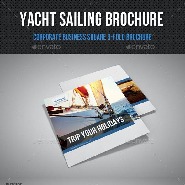 Yacht Boat Sailing Square 3-Fold Brochure 01