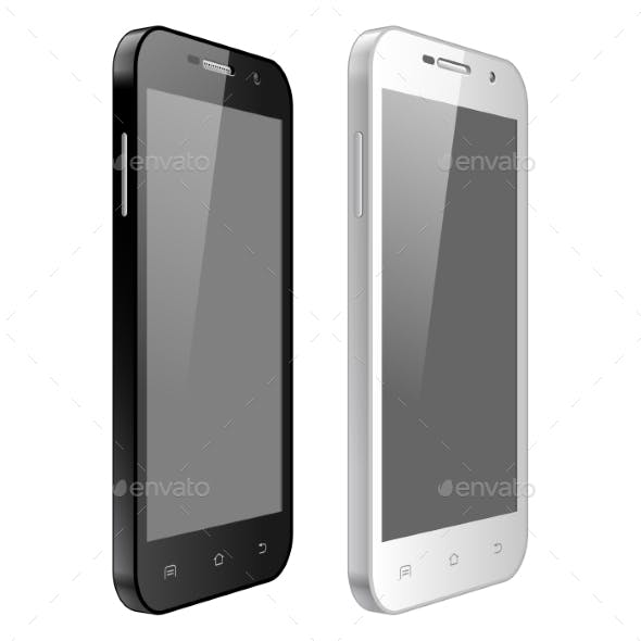 Black And White Mobile Phone
