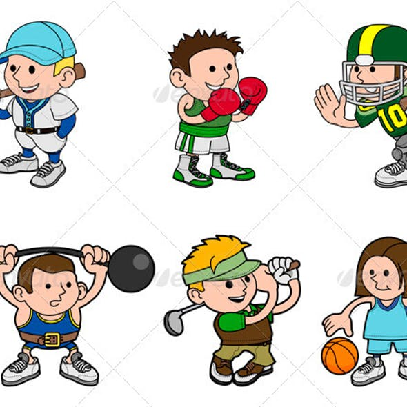 Cartoon Sports Characters