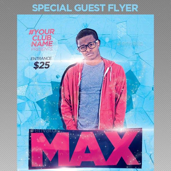 Special Guest DJS   Flyer Template PSD
