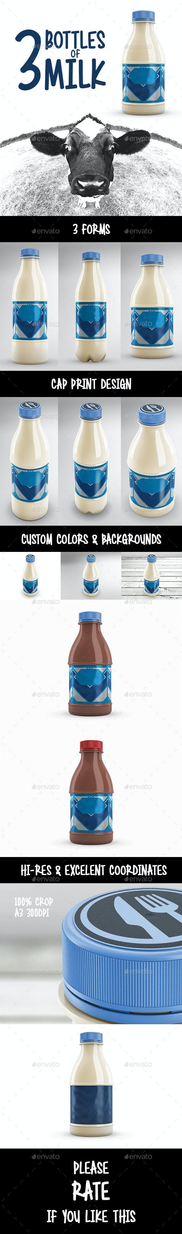 Bottles of Milk - Food and Drink Packaging