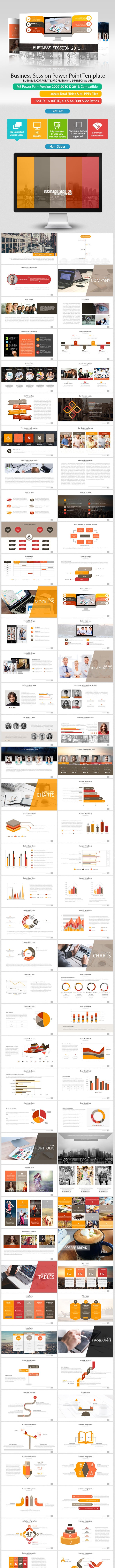 Business Session Power Point Presentation - PowerPoint Templates Presentation Templates