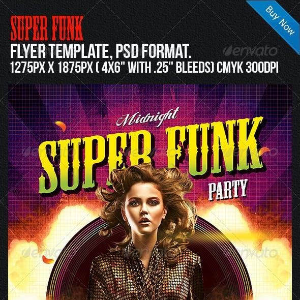 Super Funk Night Club Disco Party Flyer