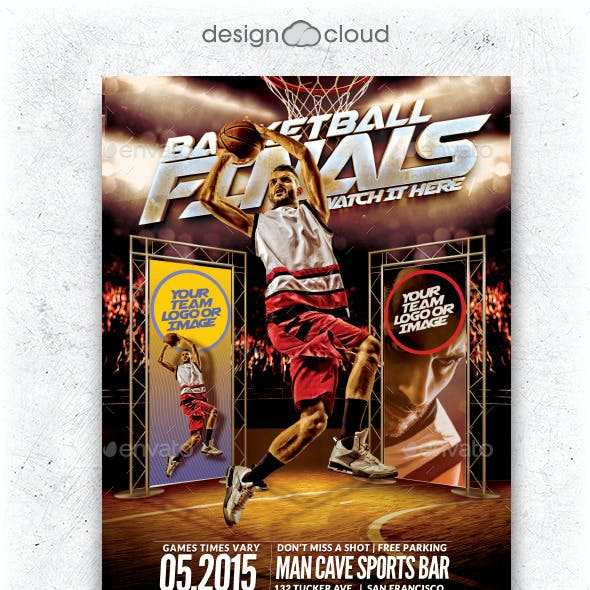 The Finals Basketball Flyer Template