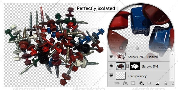 EPDM Screws - Industrial & Science Isolated Objects