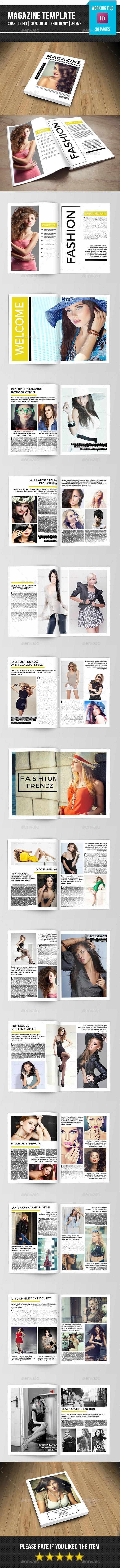 Minimal Fashion Magazine-V10 - Magazines Print Templates