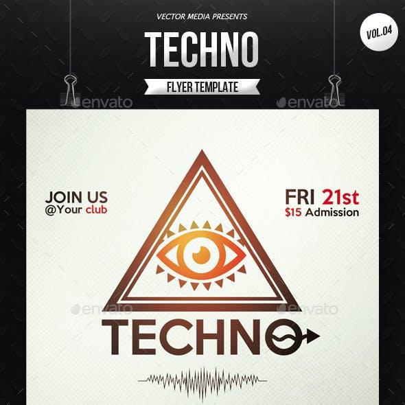 Techno - Flyer [Vol.4]