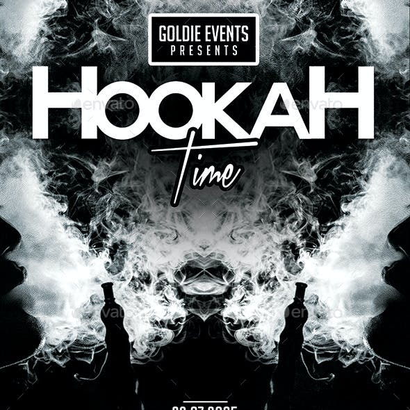 Hookah Time | Futuristic Party PSD Flyer Template