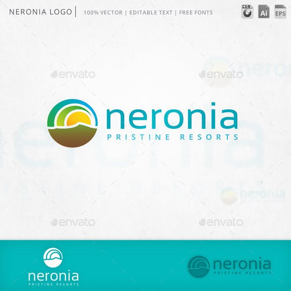 Neronia Abstract Circles Logo Template