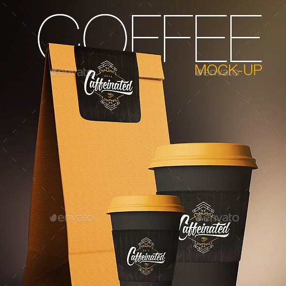 Coffee Cup / Coffee Package Mock-Up
