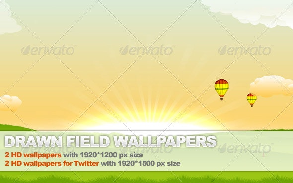 Drawn Field Background / Wallpaper Package - Backgrounds Graphics