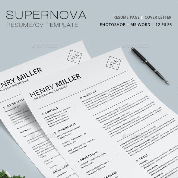 Supernova Resume/CV Set