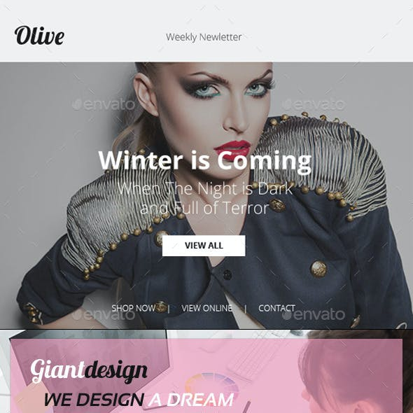 Olive - Ecommerce PSD Email Newsletter