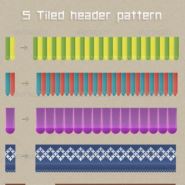 Tiled Header Pattern Set