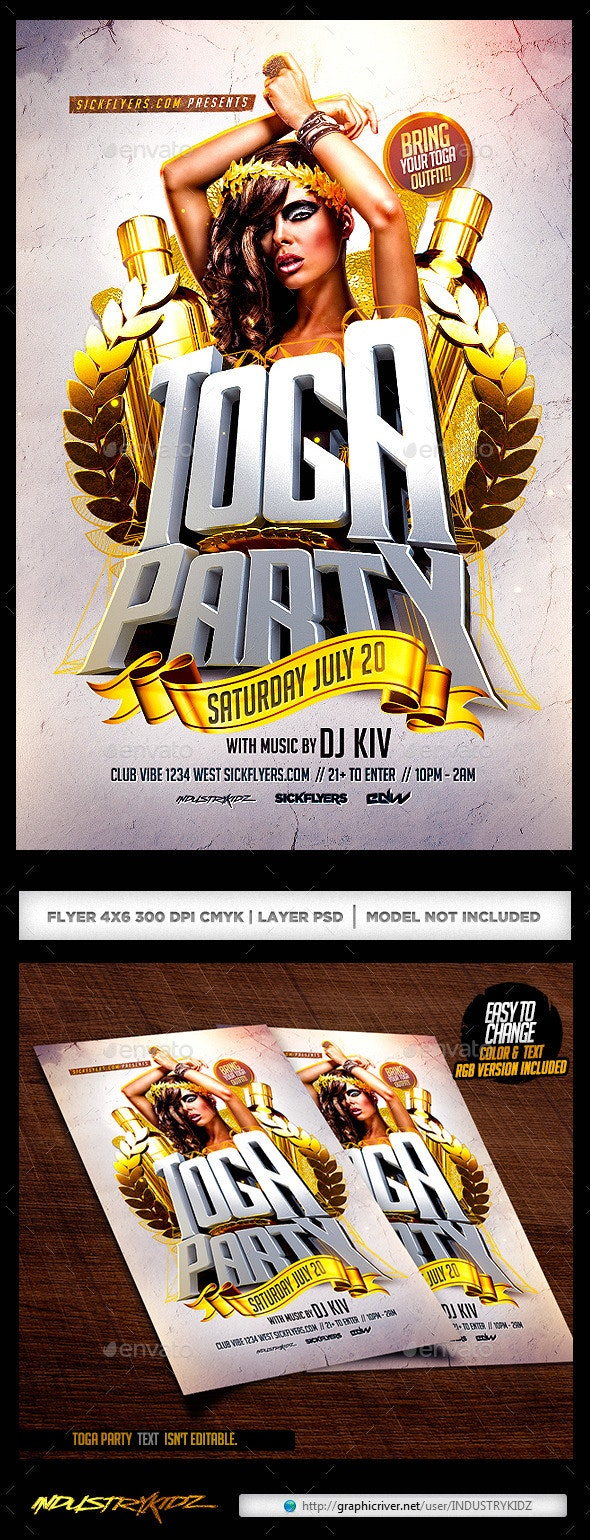 Toga Party Flyer - Clubs & Parties Events