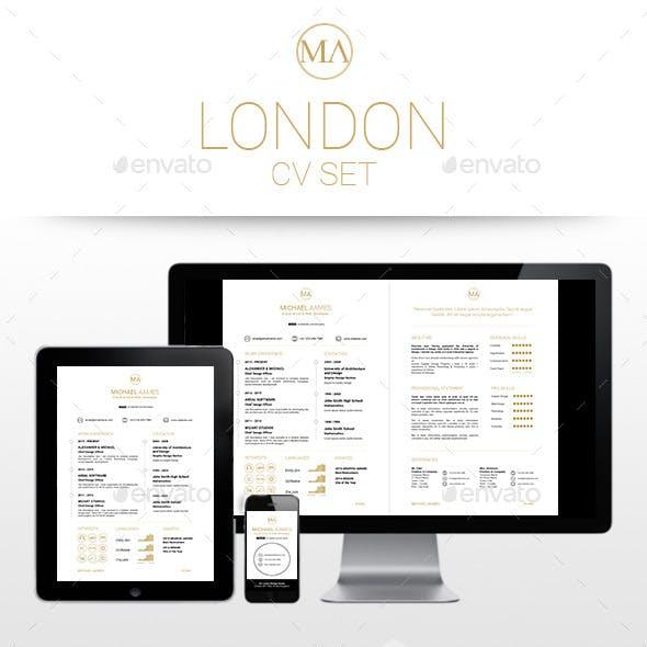 LONDON CV SET