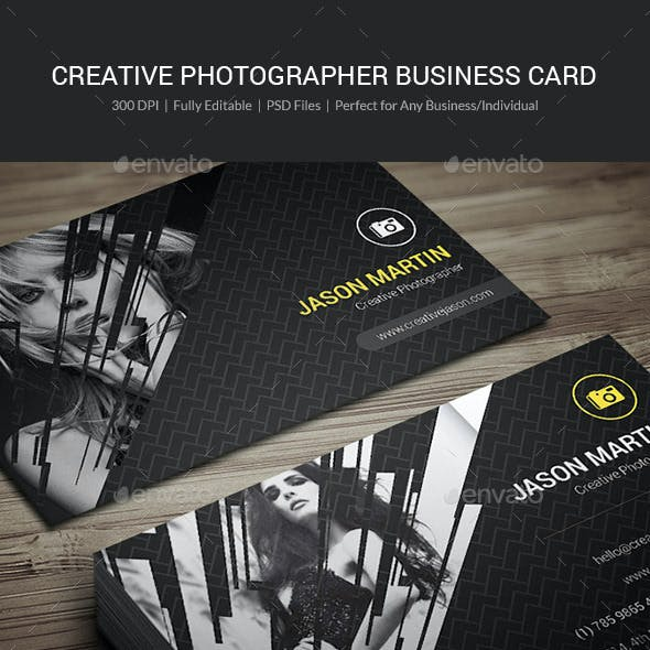 Creative Photographer Business Card - 07