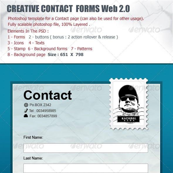 Contact Forms Box Web 2.0