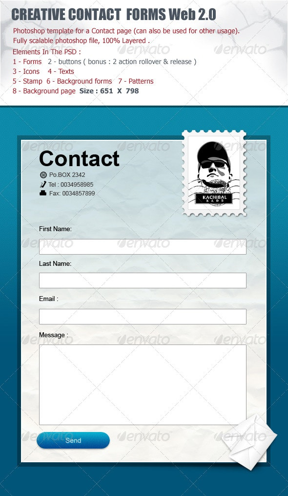 Contact Forms Box Web 2.0  - Forms Web Elements