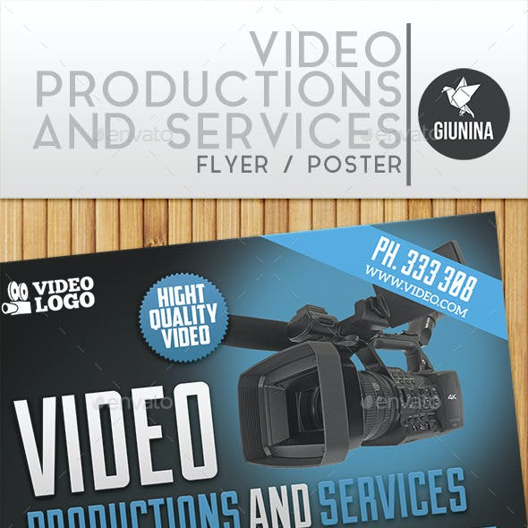 Video Production And Services Flyer/Poster