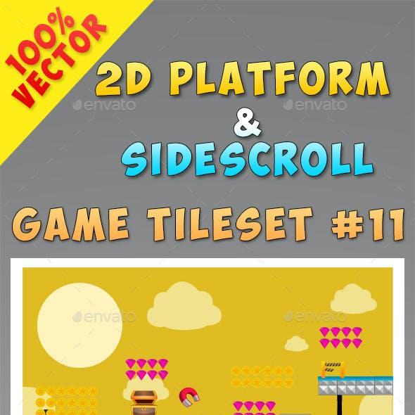 2D Platform & Sidescroll Tileset #11