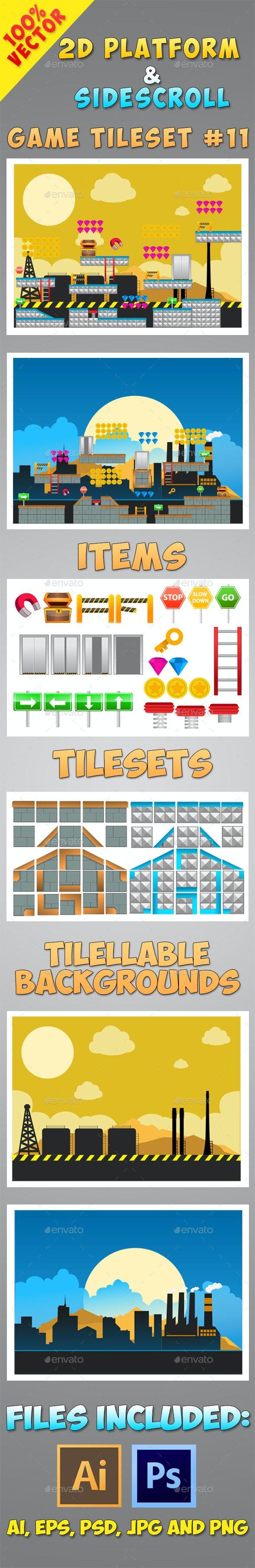 2D Platform & Sidescroll Tileset #11 - Tilesets Game Assets