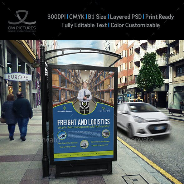 Freight Services Poster Template