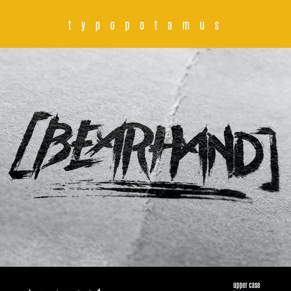 Bearhand Typeface