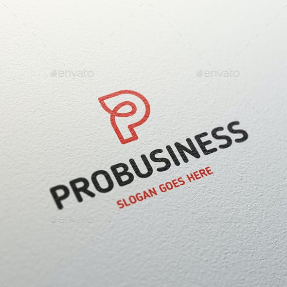 Probusiness • Letter P Logo Template