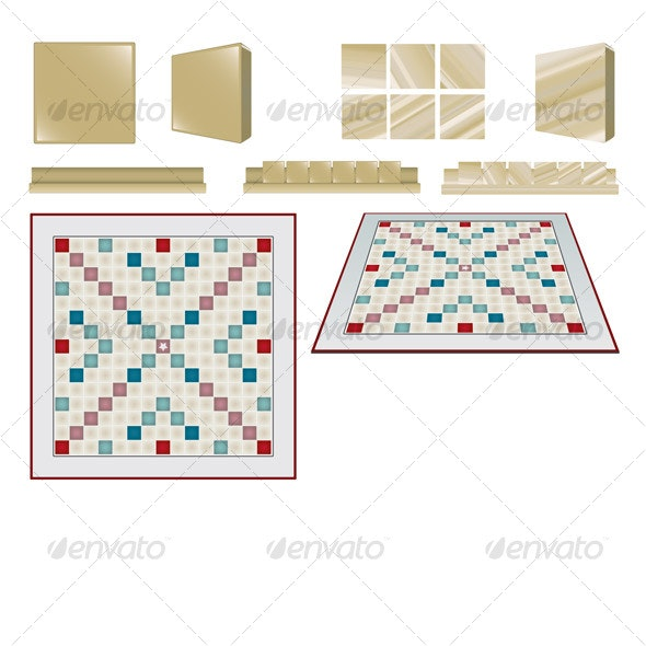 Boardgame Tiles and Board - Sprites Game Assets