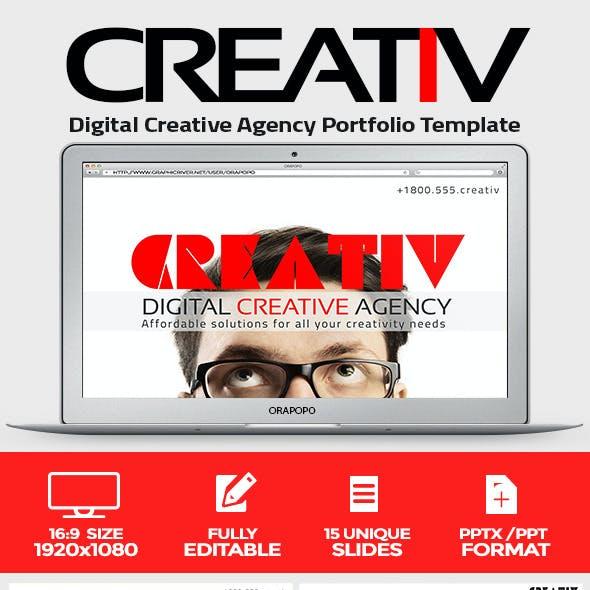 Creativ Digital Creative Agency Portfolio Template