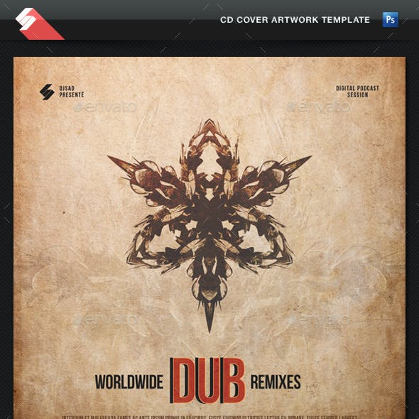 Dub Remixes - CD Cover Artwork Template
