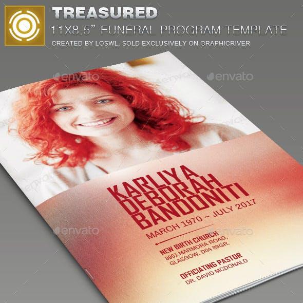 Treasured Funeral Program Template