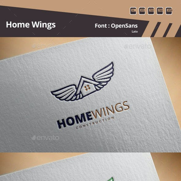 Home Wings Logo Template