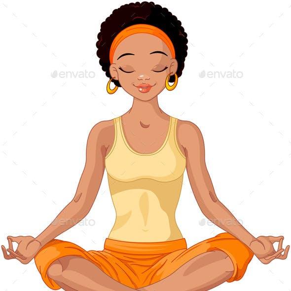 African American Yoga Girl