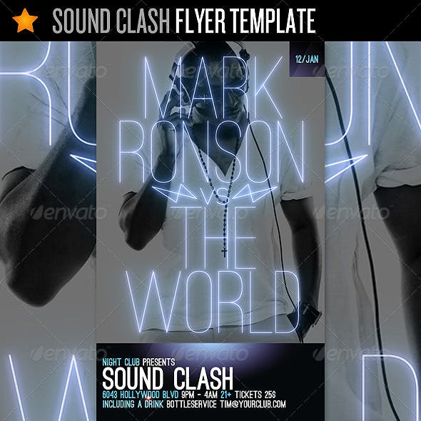 Sound Clash - Flyer Template
