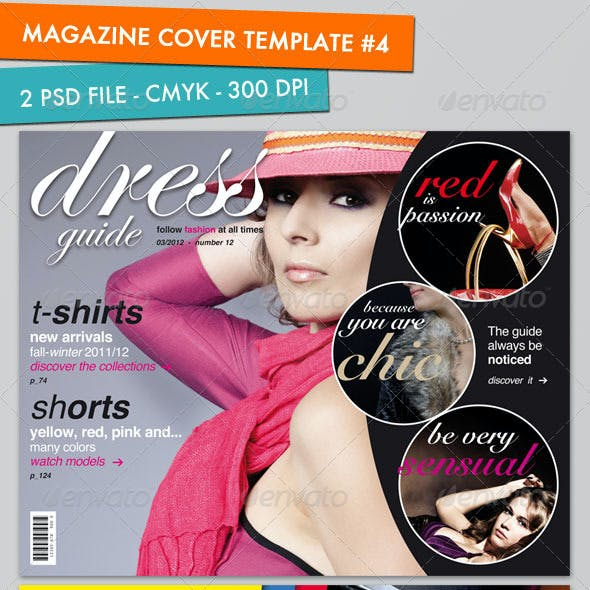 Magazine Cover Template (pack #4)
