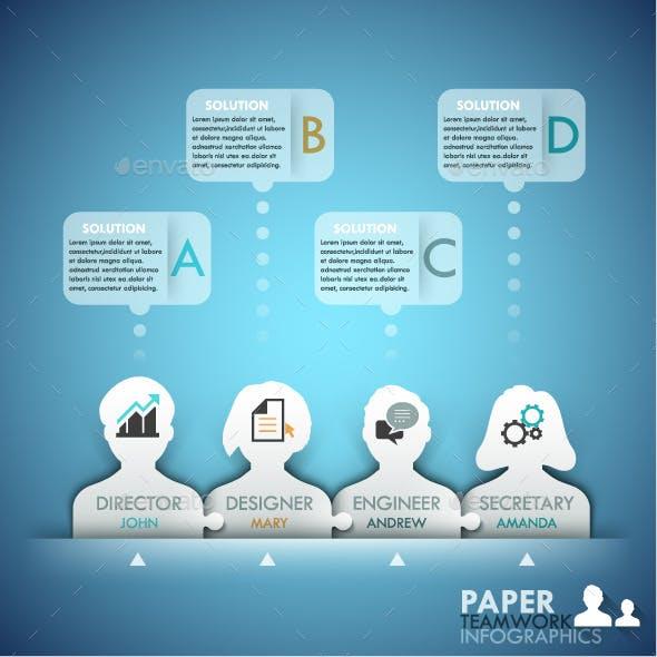 Business Teamwork Infographics Template